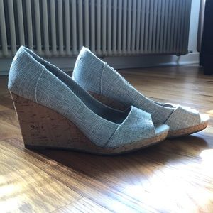 Tom's Wedge Cork Heels